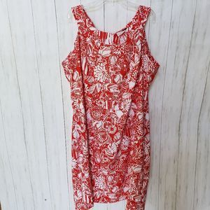 Perceptions Floral Sleeveless Dress 18W